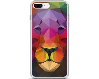 iPhone Cases, iPhone X Case, iPhone 6/6S, iPhone 7/7+ Cases ,Case iPhone 8/8+ Case, Abstract Lion print