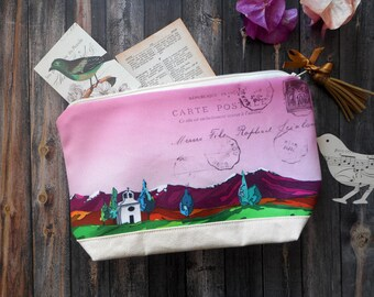 Large zipper pouch, travel case, pencil case, makeup bag, cosmetic bag, cosmetic case, travel gift, travel organizer, pencil holder, clutch