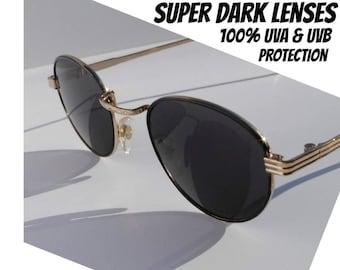 Vintage Round Sunglasses, John Lennon Glasses, P3 Eyeglasses, Great Gatsby Sunglasses, 1980s Deadstock, 1920s Round Glasses