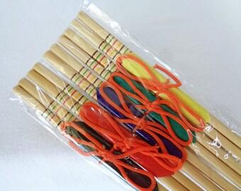 RJ81 : Chopsticks set 5,Japanese bamboo Chopsticks set 5 in original packaging,Origin Japan