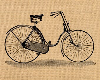 Old bicycle image, instant download, printable iron on fabric transfer, downloadable images, clip art, scrapbooking - no. 222