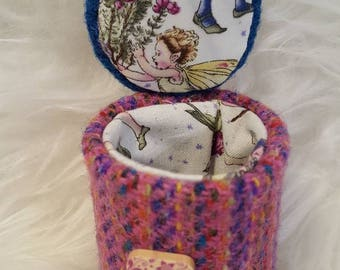 Small Harris Tweed Jewellery Box