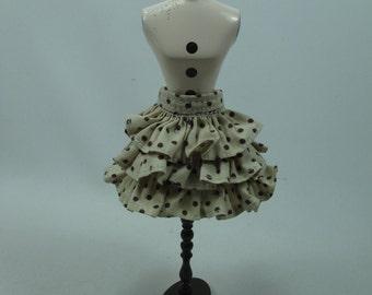 Handmade outfit for Blythe doll layers polka dot skirt A-5