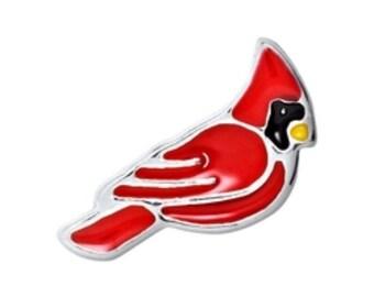 Cardinal Bird Floating Charm