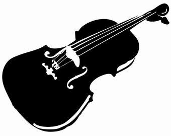 Violin Wall Decal Large