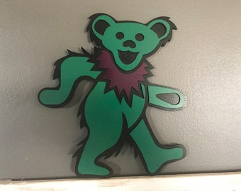 Handmade Grateful Dead Green Bear