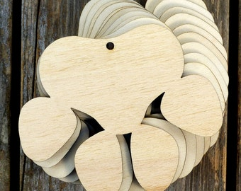 10x Wooden Dog Paw Prints Craft Shapes 3mm Plywood Pet Animal