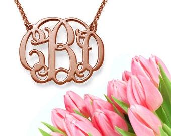 Classic Monogram Necklace (rose gold)