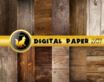 Dark Wood Paper,Dark Wood digital,Dark Wood texture,Rustic Wood,Distressed Wood,Wood Backdrop,Boho Wood Scrapbook Paper,Old Wood Background