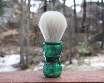 24mm Cashmere w/ Elegant Emerald Handle - APShaveCo.