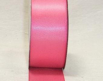3/8 inch x 100 yds Single Face Satin Ribbon -- HOT PINK