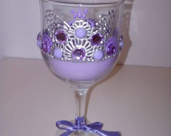 Candle cups decorated with engravings
