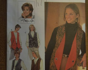 Simplicity 9741, sizes 6-10, reversible vests, UNCUT sewing pattern, craft supplies, womens, misses