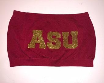 Arizona State Gold Glitter Bandeau