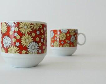 Vintage Sweet Daisies Demitasse Cup