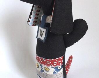Walter Dachshund / Dachshund Doll / Doxie / Art Doll / Handmade Softie