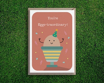 Greeting Cards   Congratulations, Encouragement, Thank You, You're Extraordinary Cute & Quirky Pun Card