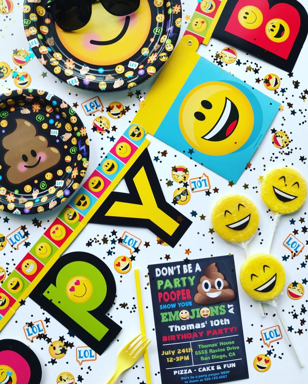 Kids Birthday Party Decorations Theme Emoji