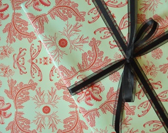 Gift Wrap Coral // Wrapping Paper, Coral Pattern, Birthday, Wedding, Engagement, Baptism, All Occasion, Vintage, Style, Sea, Ocean, Reef