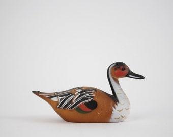 Weinlese-Miniatur Ente Figur - Kunststoff Ente Köder