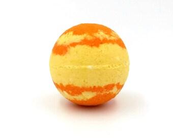 Saturn Planet Bomb - fizzy, colorful bath - solar system - discipline focus wisdom - cedarwood palmarosa lemon