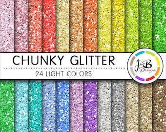 Glitter Digital Paper, Glitter Paper, Scrapbook Paper, Chunky Glitter, Glitter, Glitter Texture, Glitter Digital, Glitter Background, Light