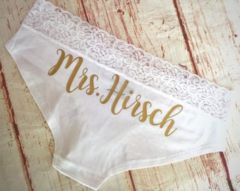Personalized Bride Panties - Custom Bride Panties - Bridal Lingerie - Bachelorette Party Gift - Bachelorette Party - Bride Gift