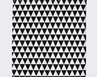 Geometric Shower Curtain Black Modern And White Home