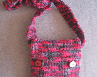 Heather red pouch