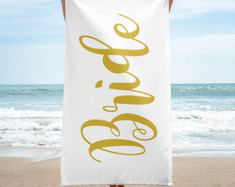 Bride Beach Towel / Wedding towel / Honeymoon Towel