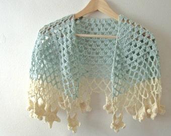 Crochet Shawl Pattern  - Sea Breeze Shawl - PDF Crochet Pattern