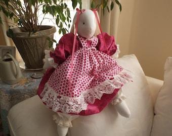 A      Beautiful   Stuffed  Bunny  Rabbit   Handmade in   America