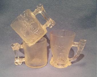 Set of 3 1993 Flintstone McDonald's Glasses