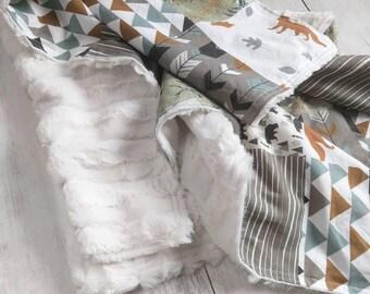 Woodland Fox Minky Blanket