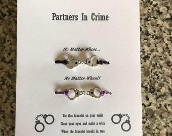 Partners in crime wish bracelets