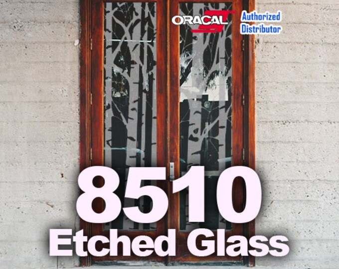 "12"" x 24""/ 5-sheets Oracal Etched Glass Vinyl, Cricut Vinyl, Craft Vinyl, Etched Glass, Glass Decoration"