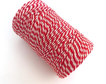 Red Twine, Cotton Baker's Twine, Made in the UK, 100m Spool