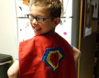 CHD Awareness Heart Disease Heart Warrior Reversible Super Hero Cape