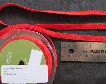 Velvet Ribbon Red 1169D
