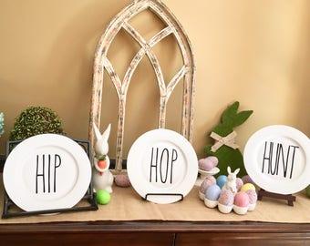 Easter Plates | Rae Dunn & Mud Pie inspired |