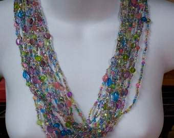 Joan Rivers Torsade Collection Czechoslovakian Pastel Beaded Necklace