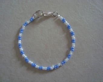 Blue and white bracelet for girl