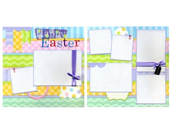 Happy Easter - Premade Scrapbook Page Set