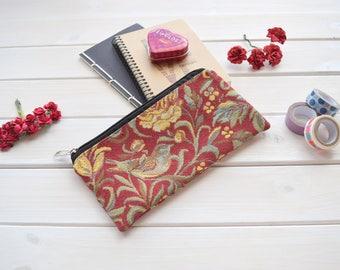 Pencil Pouch, Make Up Bag, Zipper Pouch, cute school supply, étui crayon, gadget pouch, Pencil case, Pencil, birds pencil case, organiser