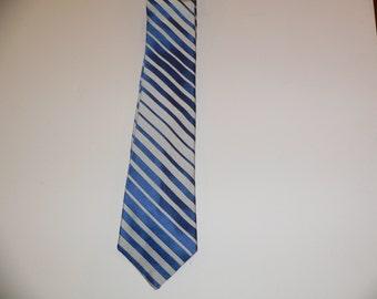 1950's 1960's Silk Striped Skinny Tie