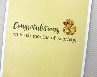 Sobriety card etsy