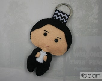 Agent Dale Cooper from Twin Peaks - felt keychain