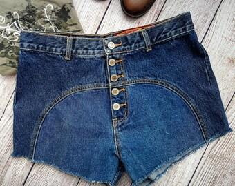 High Waisted Cut-Off shorts - Lawman