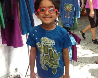 Kids Handmade Batik Sea Turtle Shirt