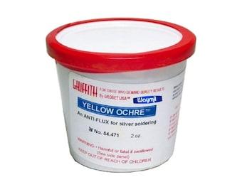 GriffithYellow Ochre Powder 2 Oz - oldering Anti Flux, Coat Surfaces & More WA 914-143